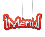Czerwony tło menu Fotografia Royalty Free