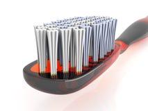 czerwony toothbrush Zdjęcie Royalty Free