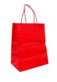 czerwony torba zakupy Obraz Royalty Free