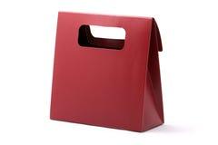 czerwony torba zakupy Fotografia Stock