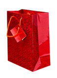 czerwony torba zakupy Obrazy Royalty Free