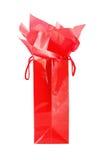 czerwony torby na zakupy Zdjęcia Royalty Free