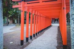 Czerwony torii w Japonia Obrazy Royalty Free