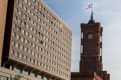 Czerwony townhall Berlin Germany Zdjęcie Stock