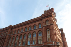 Czerwony townhall Berlin Germany Zdjęcia Royalty Free