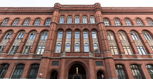 Czerwony townhall Berlin Germany Zdjęcia Stock