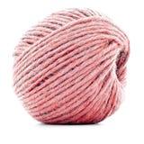 Czerwony tradycyjny gejtaw, szwalnej nici rolka odizolowywająca na białym tle Zdjęcie Royalty Free