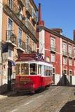 Czerwony tramwajowy autobus Obraz Royalty Free