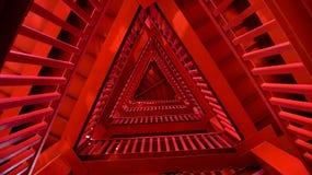 Czerwony trangle wierza zdjęcia stock