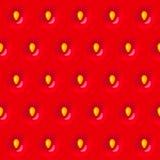 Czerwony truskawkowy bezszwowy tekstura wzór z ziarnem Obrazy Royalty Free