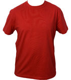 czerwony tshirt Zdjęcia Stock