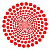 czerwony twirl Obraz Royalty Free
