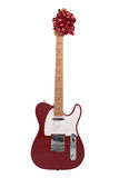 czerwony ukłon gitary Obraz Royalty Free