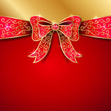 czerwony ukłon Obraz Royalty Free