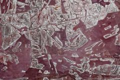 czerwony uroczy abstrakcjonistyczny obraz laka obraz, adobe rgb fotografia stock