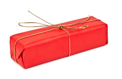 Czerwony urodzinowy prezent Zdjęcie Stock