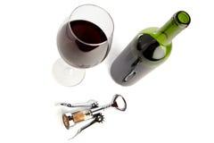 czerwony ustalony wino Obrazy Royalty Free