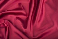 Czerwony (Vinous) jedwab Fotografia Stock