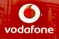 Czerwony Vodafone logo Obraz Stock