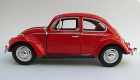 Czerwony Volkswagen Beetle Zdjęcie Royalty Free