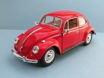 Czerwony Volkswagen Beetle Zdjęcie Stock