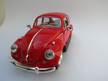 Czerwony Volkswagen Beetle Fotografia Stock
