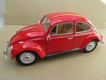 Czerwony Volkswagen Beetle Obrazy Stock