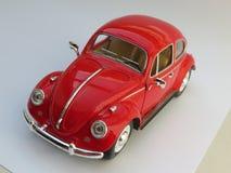 Czerwony Volkswagen Beetle Zdjęcia Royalty Free