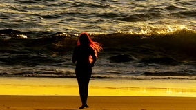 Czerwony Włosiany wschód słońca Zdjęcia Stock