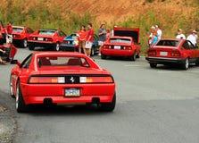 Czerwony włoski sporta samochodu tylni widok Obraz Stock
