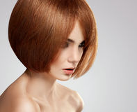 Czerwony włosy. Wysokiej jakości wizerunek. Zdjęcia Royalty Free