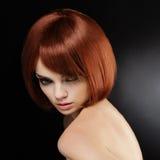 Czerwony włosy. Wysokiej jakości wizerunek Obraz Stock