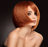 Czerwony włosy. Wysokiej jakości wizerunek. Obraz Royalty Free