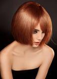 Czerwony włosy. Wysokiej jakości wizerunek. Zdjęcie Stock