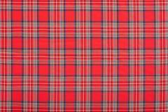 Czerwony w kratkę szkocki tkaniny tekstury tło Fotografia Royalty Free