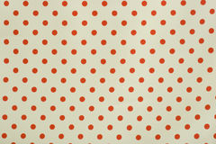 czerwony w tło białe kropki Zdjęcia Royalty Free
