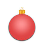 Czerwony Wakacyjny ornament Obraz Stock