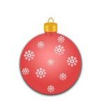 Czerwony Wakacyjny ornament z płatkami śniegu Fotografia Royalty Free