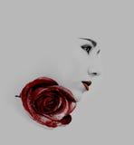 Czerwony warga makijaż Obrazy Stock