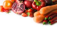 Czerwony warzywo i owoc Zdjęcie Stock