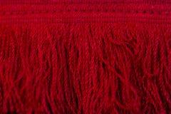 Czerwony wełna kraniec zdjęcia stock