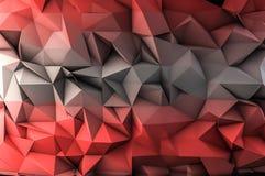 Czerwony wielobok Fotografia Stock