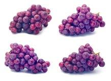 Czerwony winogrono. czerwony winogrono na bielu Obraz Stock