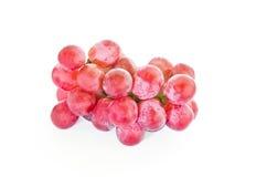 Czerwony winogrono odizolowywa Zdjęcie Royalty Free
