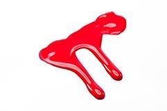 Czerwony wodny kolor zdjęcie stock