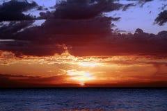 czerwony wschód słońca Fotografia Royalty Free