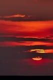 czerwony wschód słońca Obrazy Royalty Free
