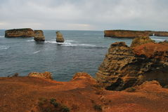 czerwony wyspy morze Obrazy Stock