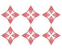 czerwony wzór Obraz Royalty Free