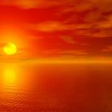 czerwony zachód słońca Fotografia Stock